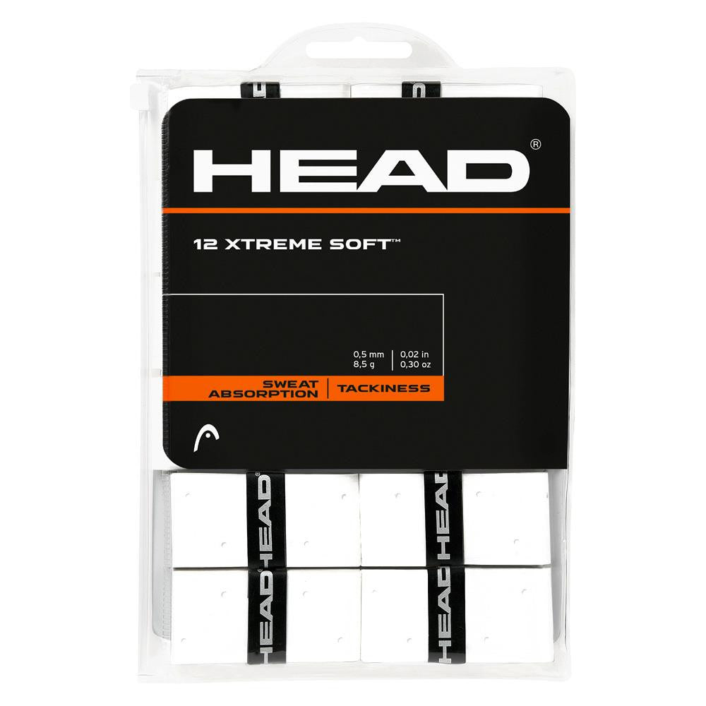 HEAD XTREME Soft Overgrips 12 Pack White