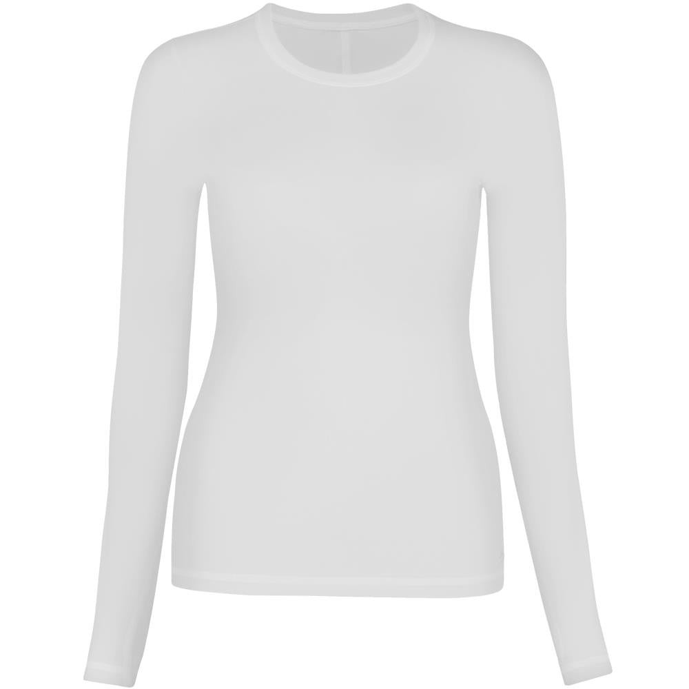 Sofibella Girls Crewneck Longsleeve Top - White