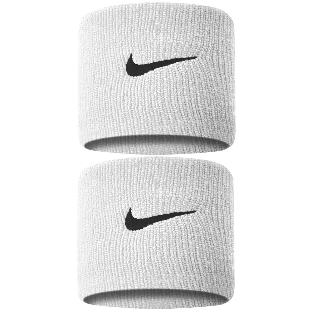 Nike Swoosh Wristbands - White/Black