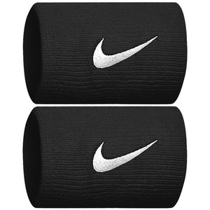 Nike Swoosh Doublewide Wristbands - Black/White