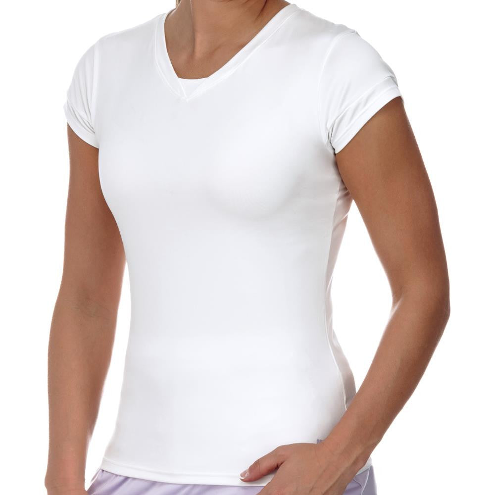 KSwiss Women's Spring Pace Cap Sleeve Top White