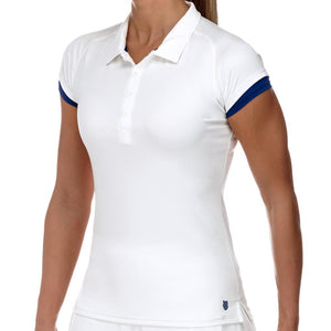 KSwiss Spring Club Polo White/Ultramarine