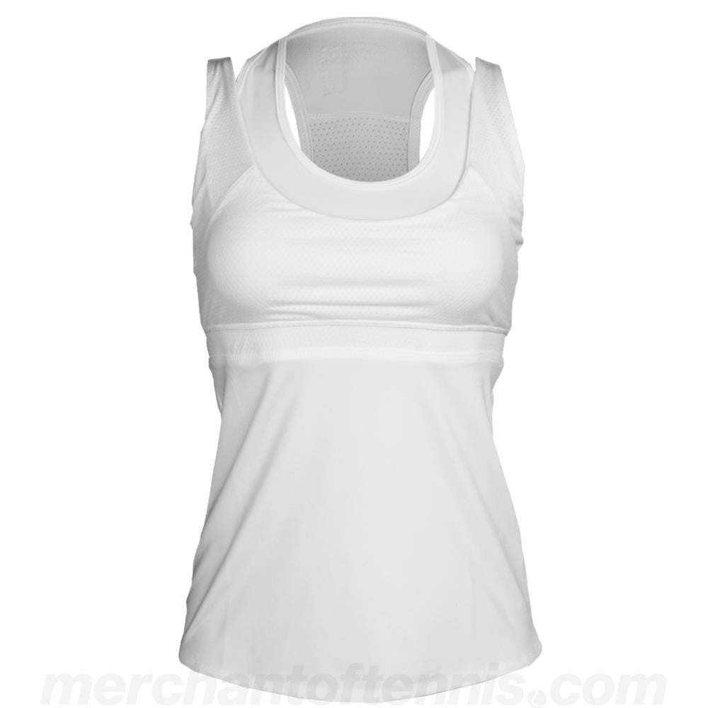Lucky in Love Women's Core Double Up Racerback Tank - White