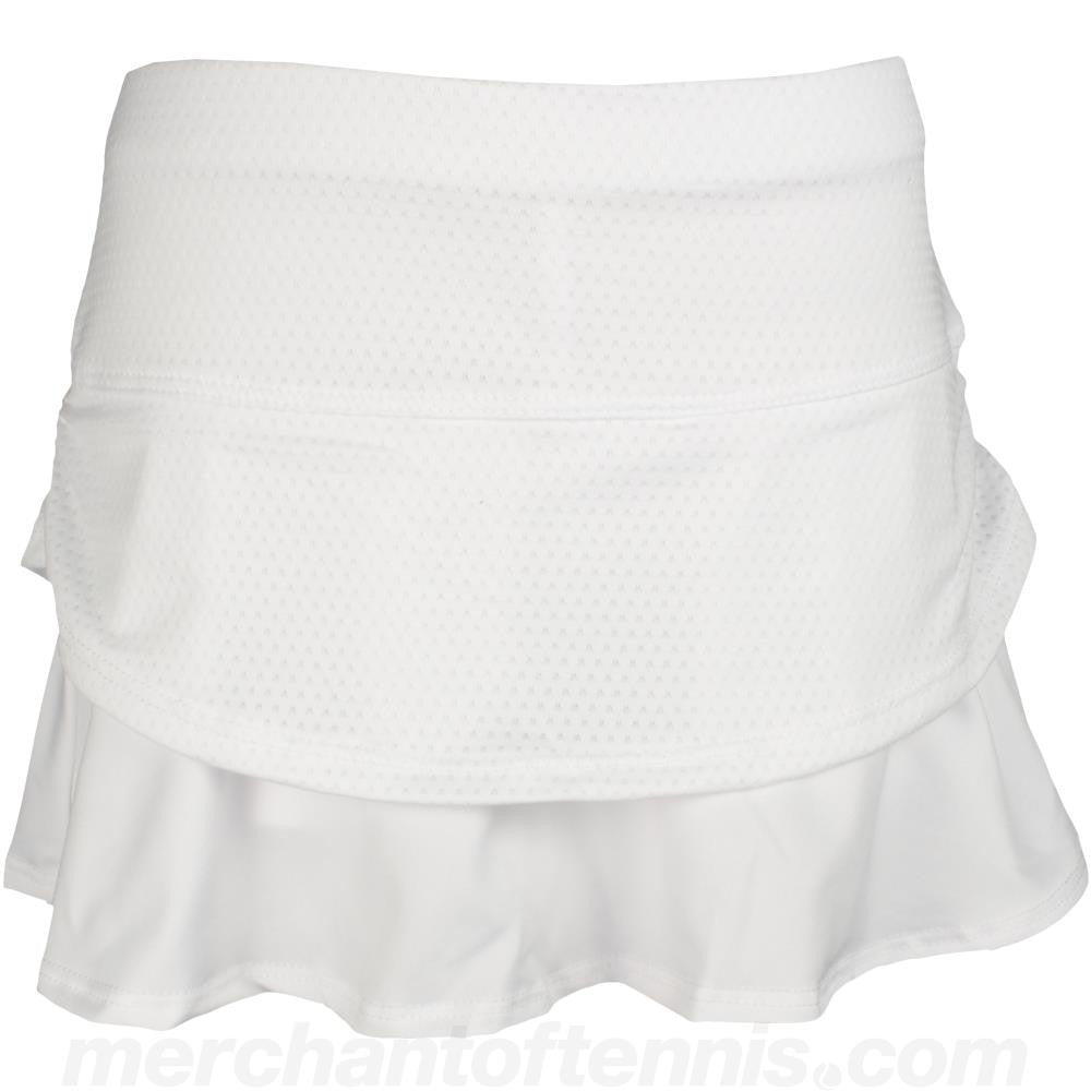 Lucky in Love Girls Pindot Ruched Skort Skort White