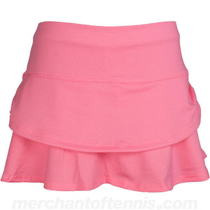 Lucky in Love Girls Pindot Ruched Skort Neon Pink