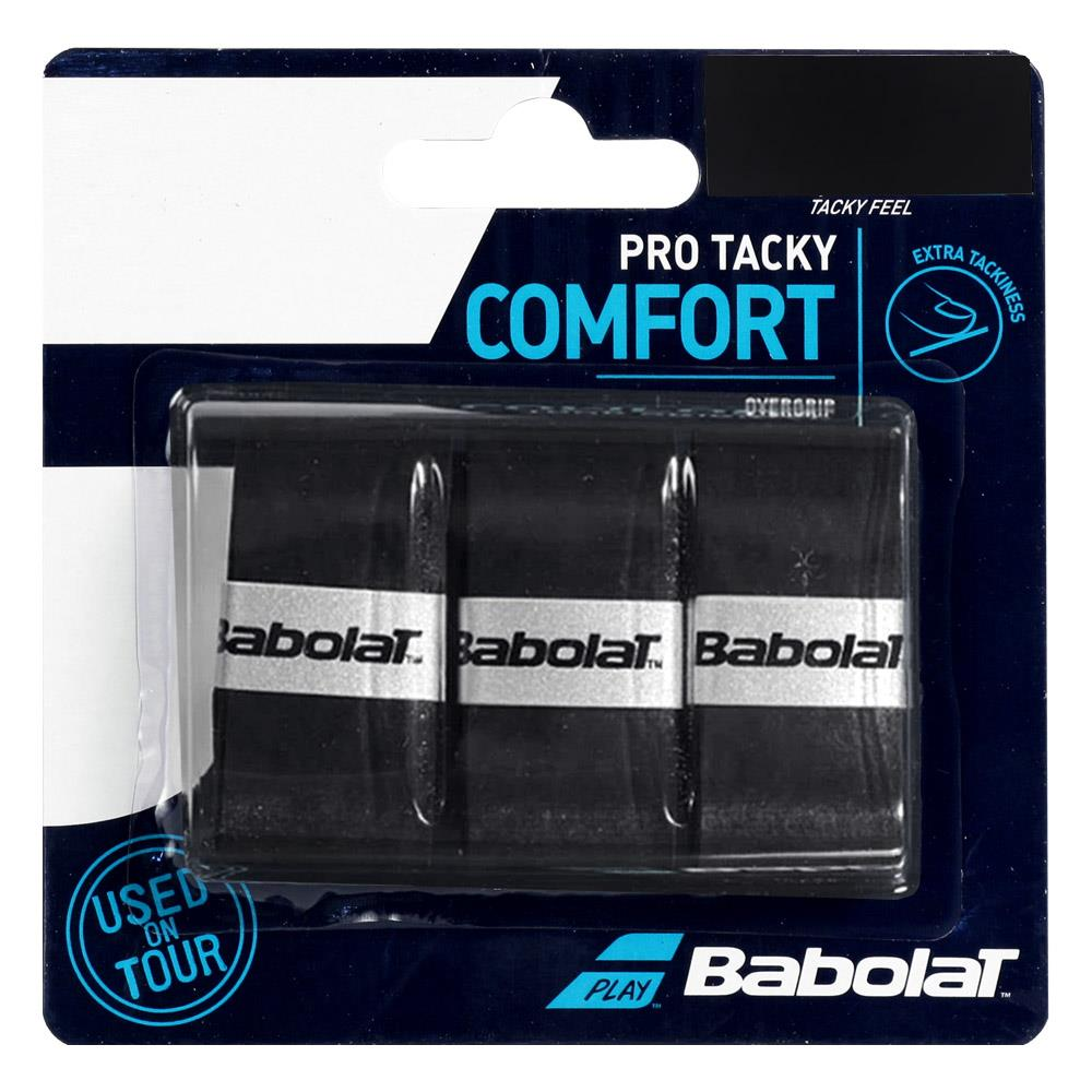 Babolat Pro Tacky Overgrip - 3 Pack - Black