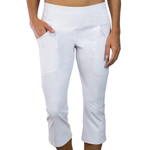 JoFit Women's Live-In Capri White