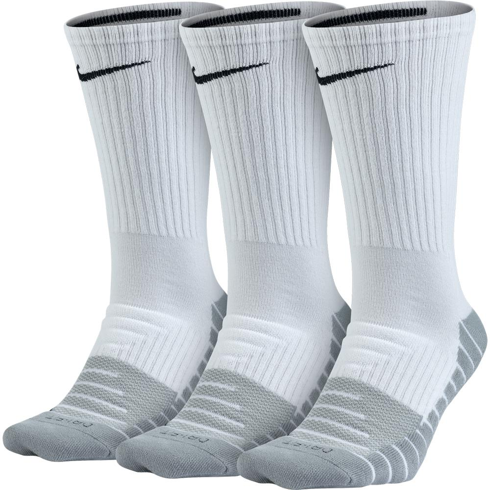 Nike Dry Cushion Crew Training 3 Pack Sock White