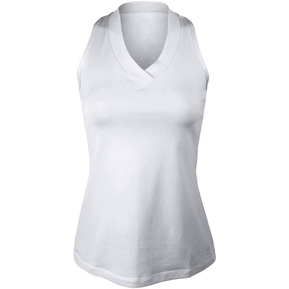 Sofibella Women's UV Colors Athletic Racerback Tank - White