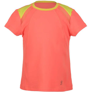 Sofibella Girls Checkmate Short Sleeve Top Sorbet