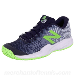 New Balance Junior Kc996v3 Navy/Lime