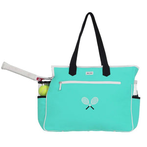 Ame & Lulu Kensington Cross Racquet Court Bag Aqua
