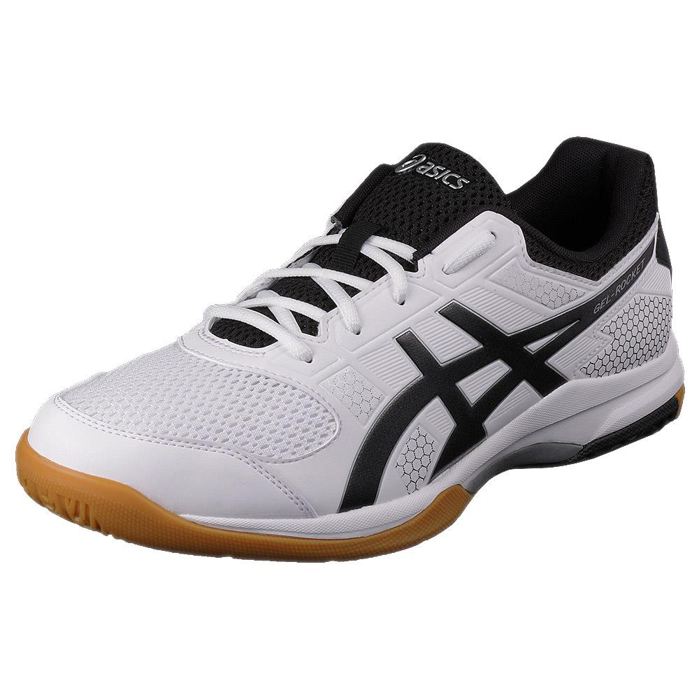 ad27a5911e7187 Asics Men s Gel-Rocket 8 - White Black Silver – Merchant of Tennis