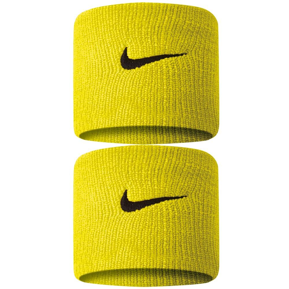 Nike Swoosh Premier DriFit Wristbands 2.0 - Bright Citron/Black