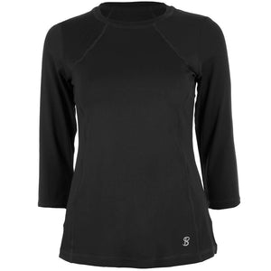 Sofibella Women's UV Colors Classic 3/4 Sleeve Top - Black