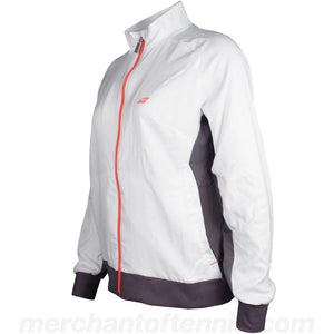 Babolat Girls Core Club Jacket - White with Grey