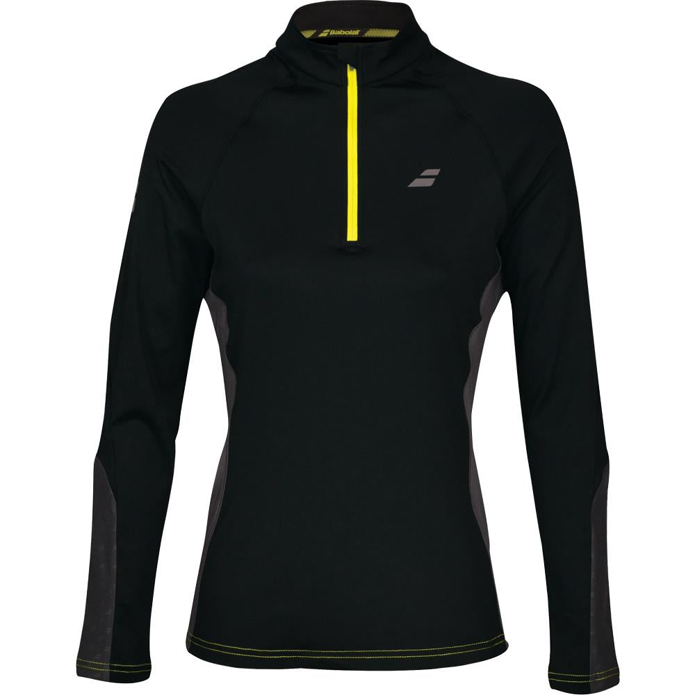Babolat Women's Core 1/2 Zip Longsleeve Top - Black