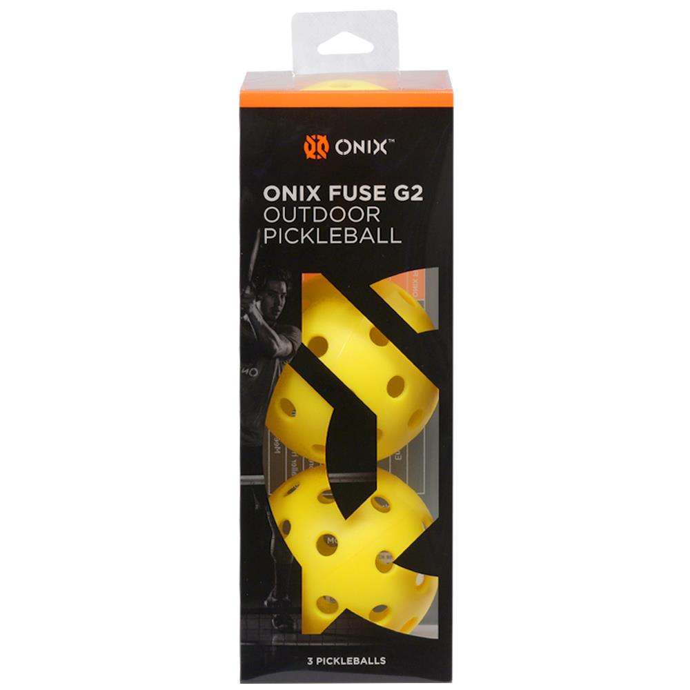 Onix Fuse Outdoor Pickleball 3 Pack - Yellow