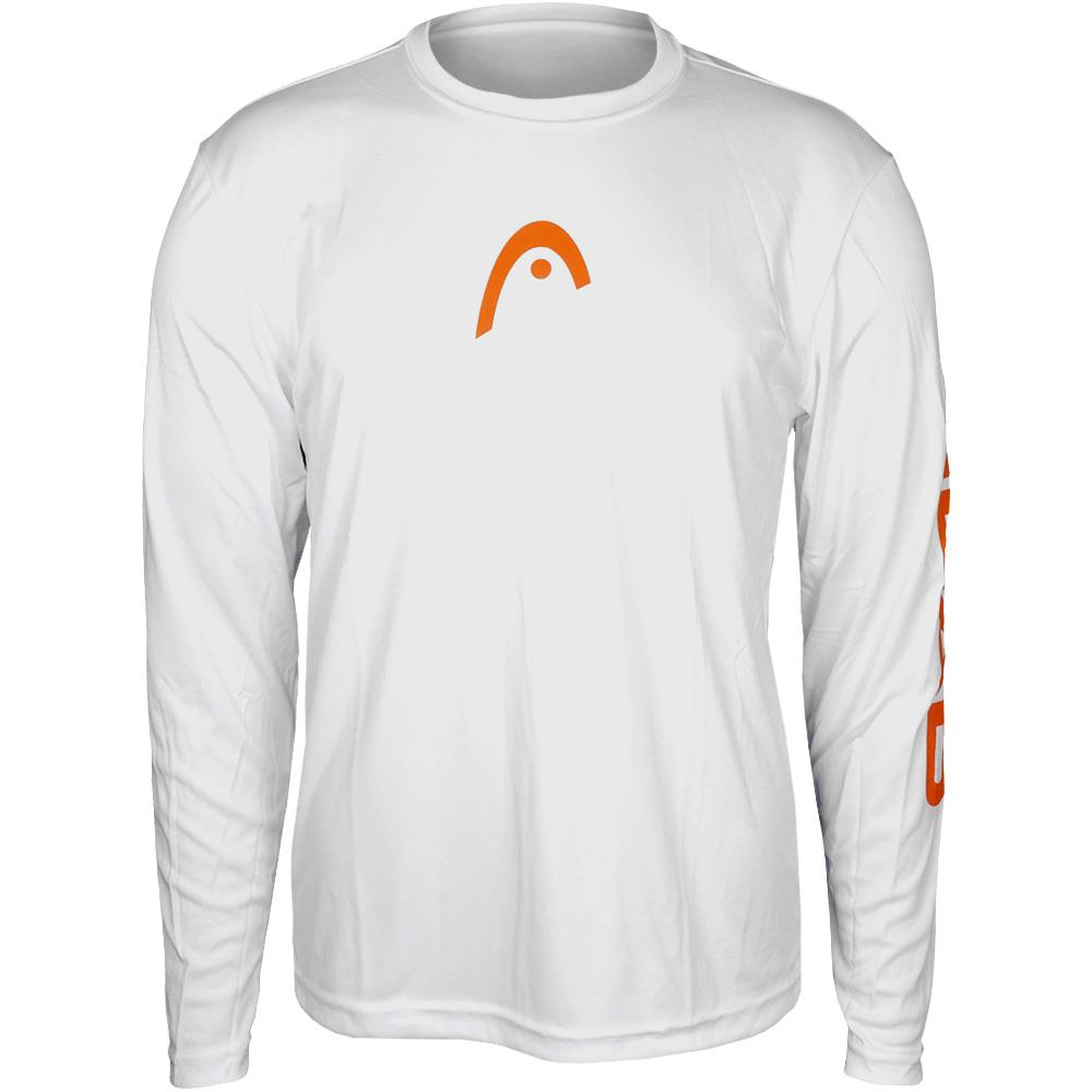 Head Longsleeve Crew-neck – White/Orange