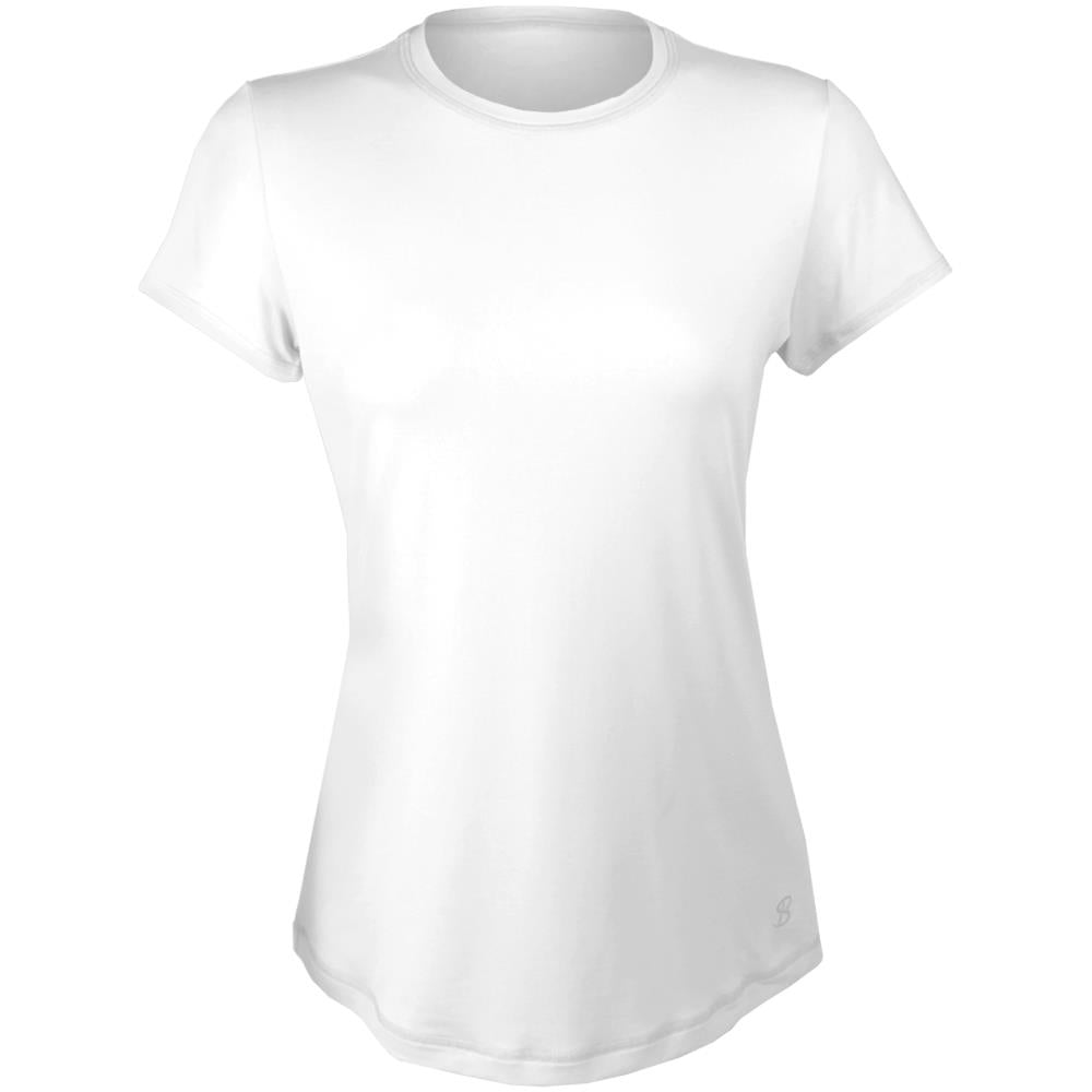 Sofibella Women's UV Colors Short Sleeve Top - White