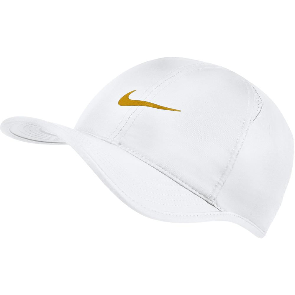 Nike Unisex Aerobill Featherlight Hat - White/Gold Leaf