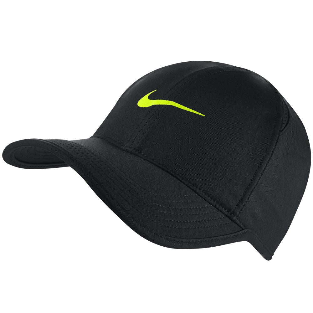Nike Unisex Aerobill Featherlight Hat - Black/Volt