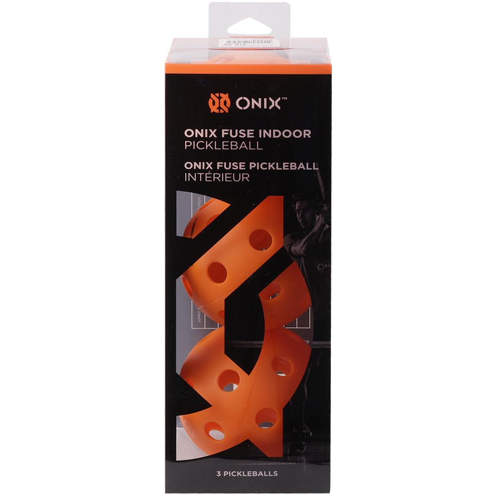 Onix Fuse Indoor Pickleball 3 Pack - Orange