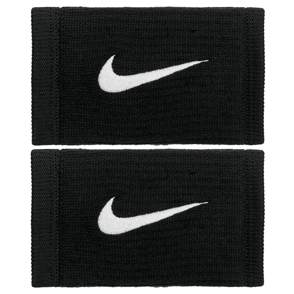 Nike Reveal Doublewide Dry Wristband - Black/Dark Grey/White