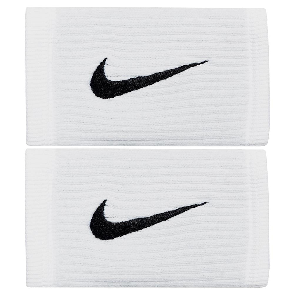 Nike Reveal Doublewide Dry Wristbands - White/Cool Grey/Black