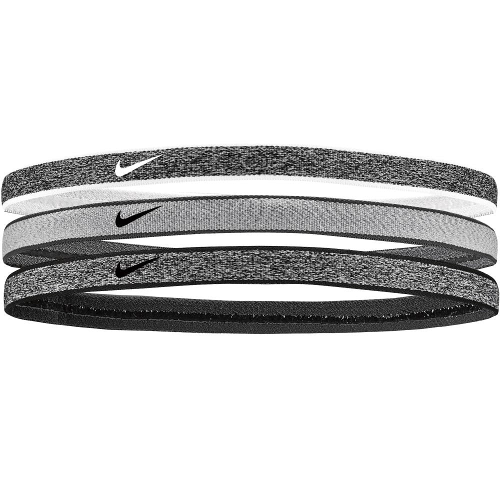 Nike Heathered Swoosh Sport Headband - Black Heather/Dark Grey Heather