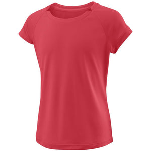 Wilson Girls Cap Sleeve Top - Fiery Coral