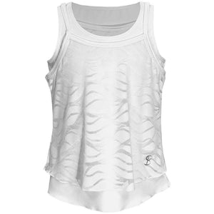 Sofibella Girls Miami Overlay Tank - White