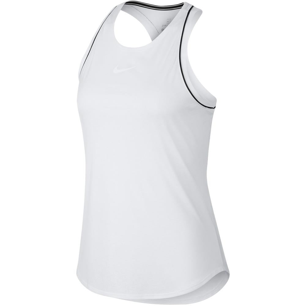 Nike Women's Court Dry Tank - White/Black