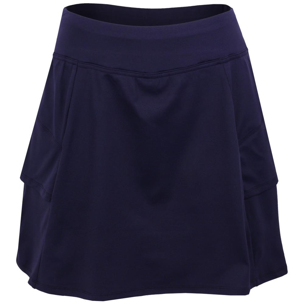 Lija Women's Blurred Lines Elevate Skort - Dark Navy