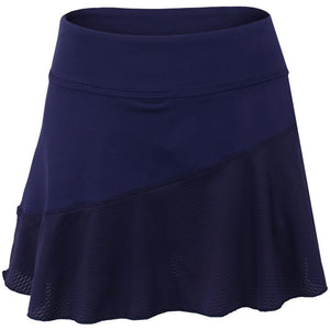 Lija Women's Blurred Lines Multi Panel Skort - Dark Navy