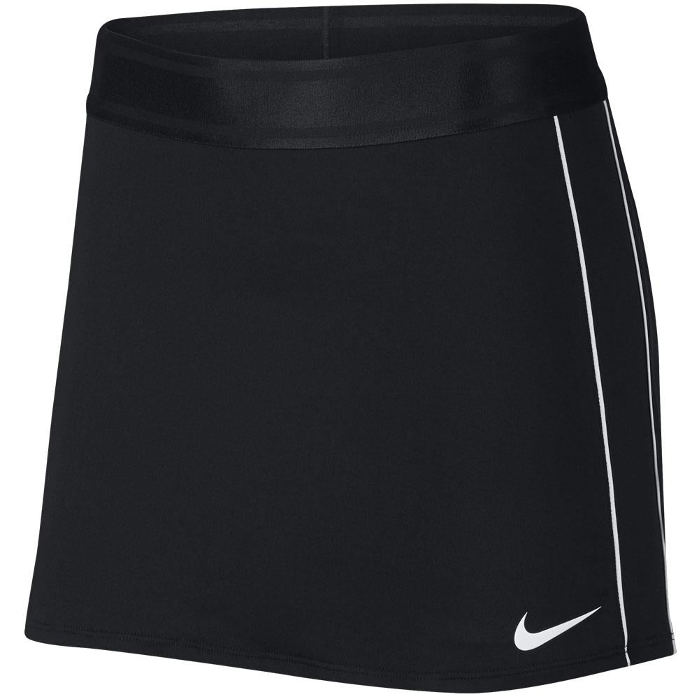 Nike Women's Court Straight Longer Length Skirt - Black/White