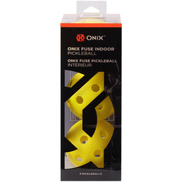 Onix Fuse Indoor Pickleball 3 Pack - Yellow