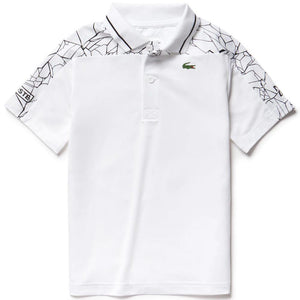Lacoste Boys Djokovic Polo - White/Black