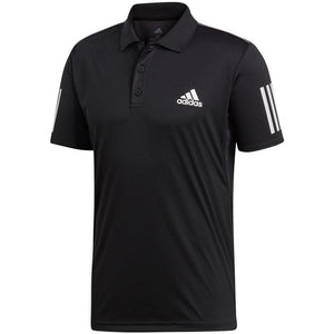adidas Men's Club 3 Stripe Polo - Black