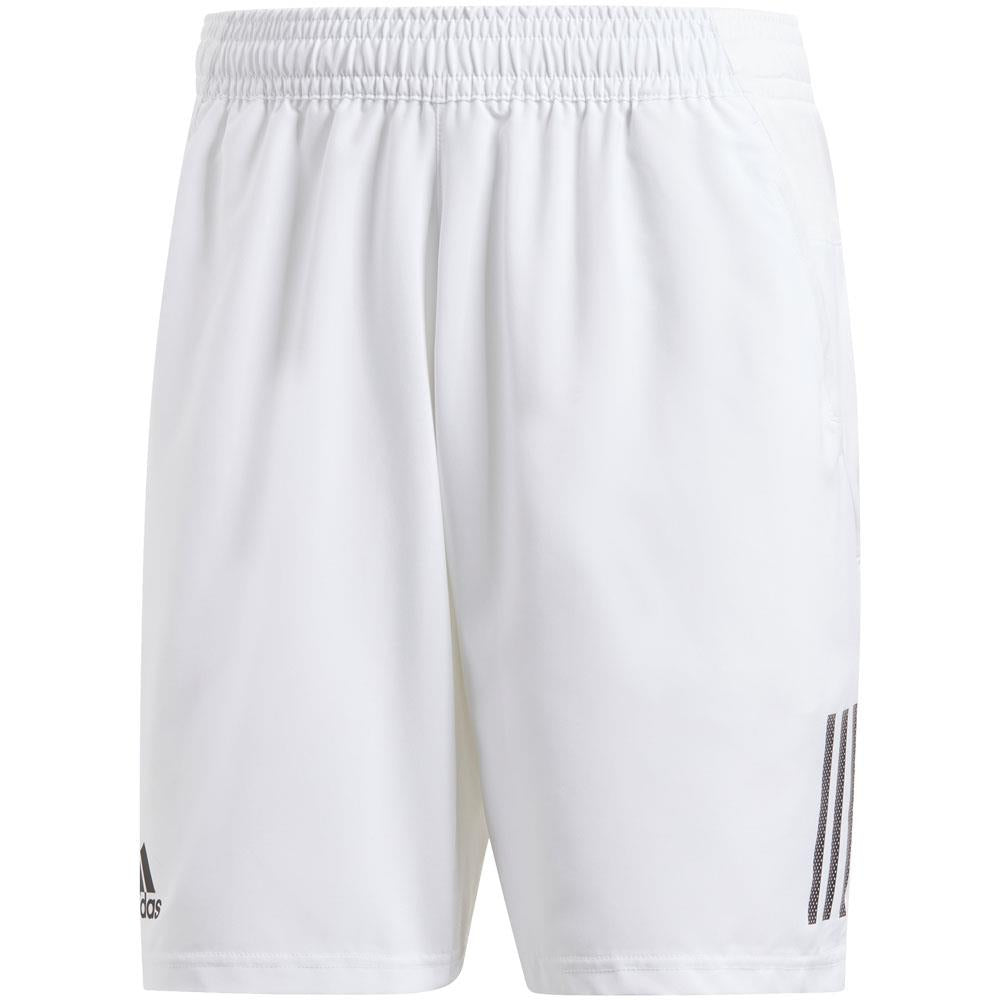adidas Men's Club 3 Stripe Short - White