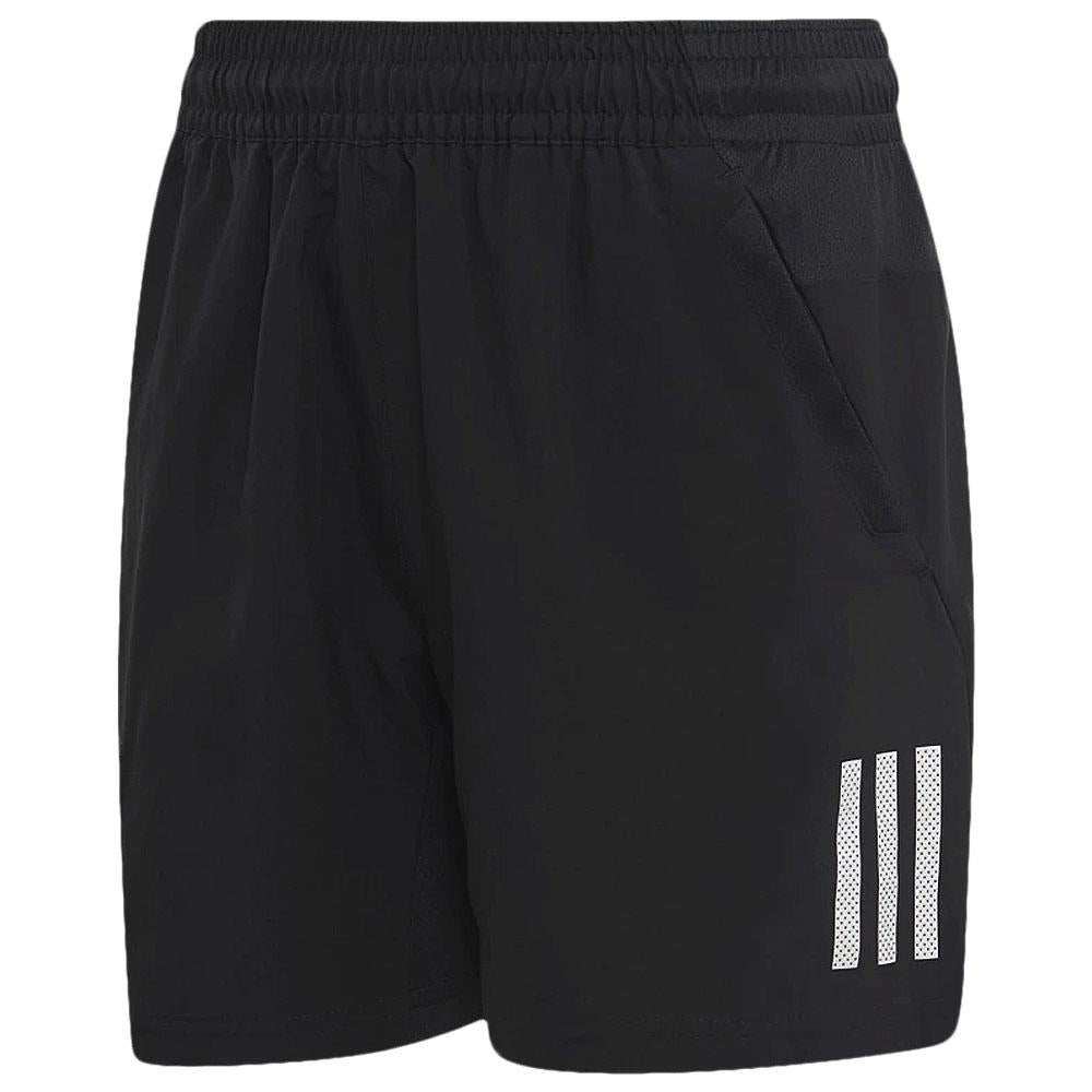 adidas Boys Club 3 Stripe Shorts - Black