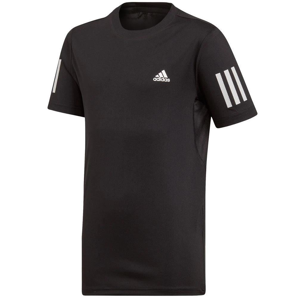 adidas Boys Club 3 Stripe Tee - Black
