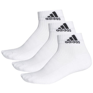 adidas Performance Ankle Cushioned 3 Pack Socks - White
