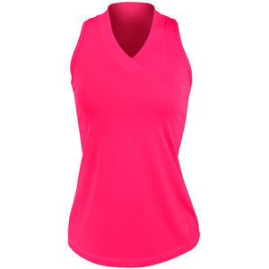 Sofibella Women's UV Colors Athletic Racerback Tank - Magenta