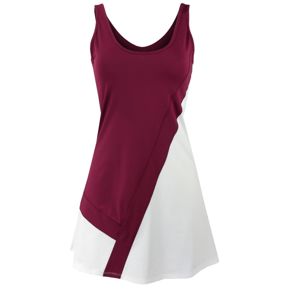 Tonic Women's Tinsel Dress - White/Burgundy
