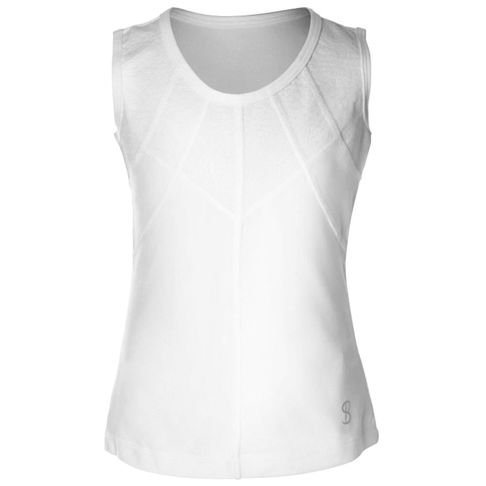 Sofibella Girls Athena Facet Tank - White