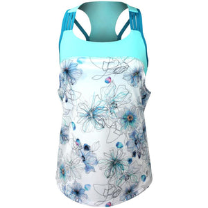 Sofibella Women's Harmonia Watercolour Tank - Floral Ink Print