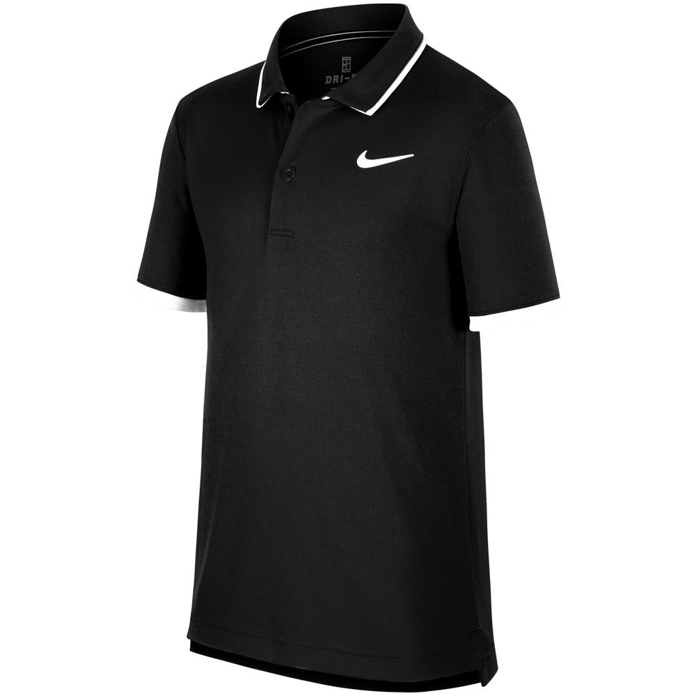 Nike Boys Court Dry Polo - Black