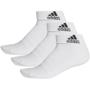 adidas Cushioned Ankle Socks 3 Pack - White