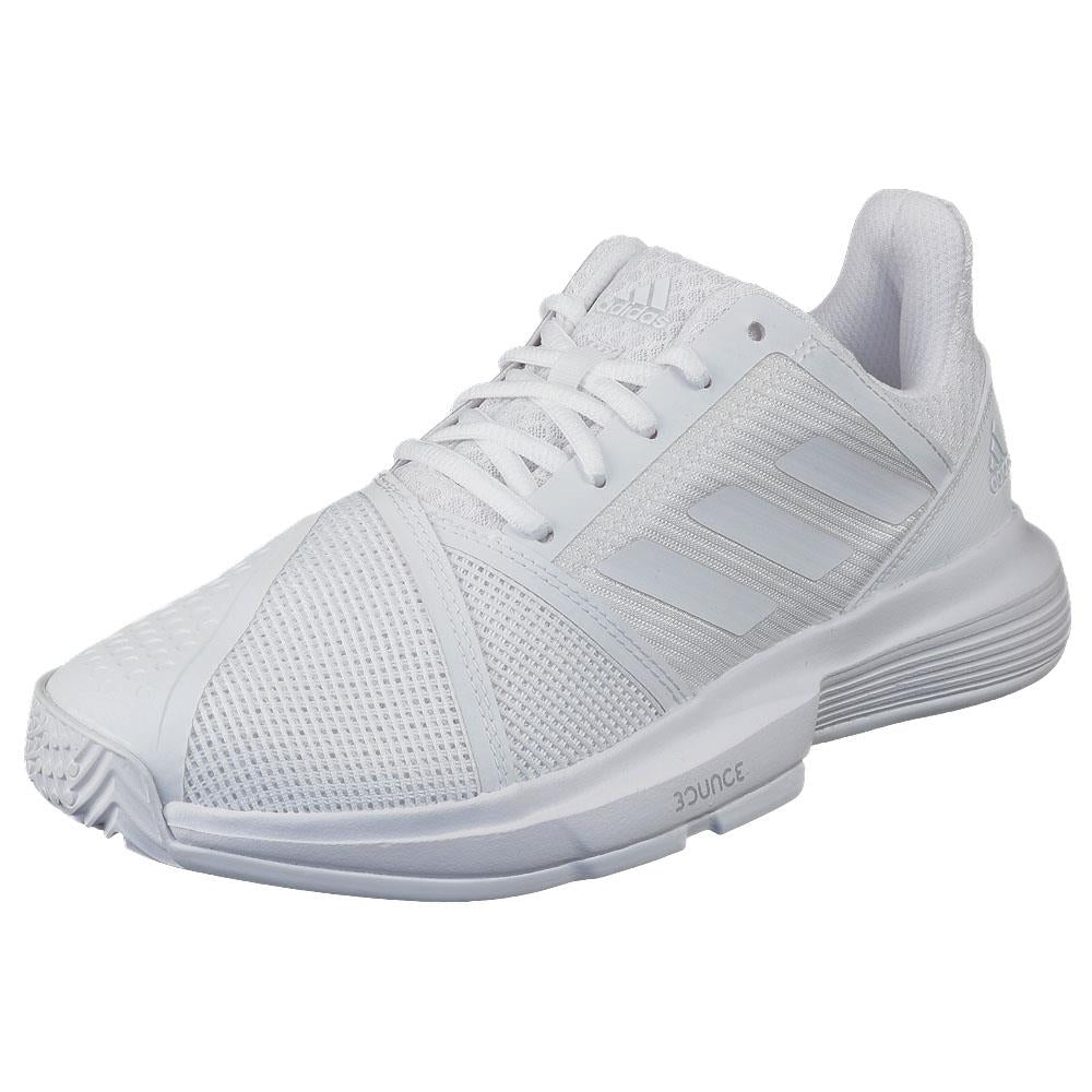adidas Women's CourtJam Bounce - White/Matte Silver